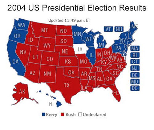 Jeff Weintraub Mapping The Political Geography Of US Presidential - Us presidential map 2000