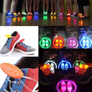 Funny LED Shoe Laces Flash Light Up Glow Stick Strap Shoelaces Disco Party