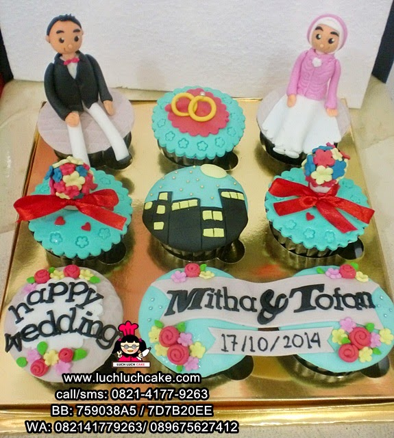 Cupcake Wedding Cantik Daerah Surabaya - Sidoarjo