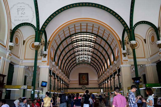 interior of saigon central post office