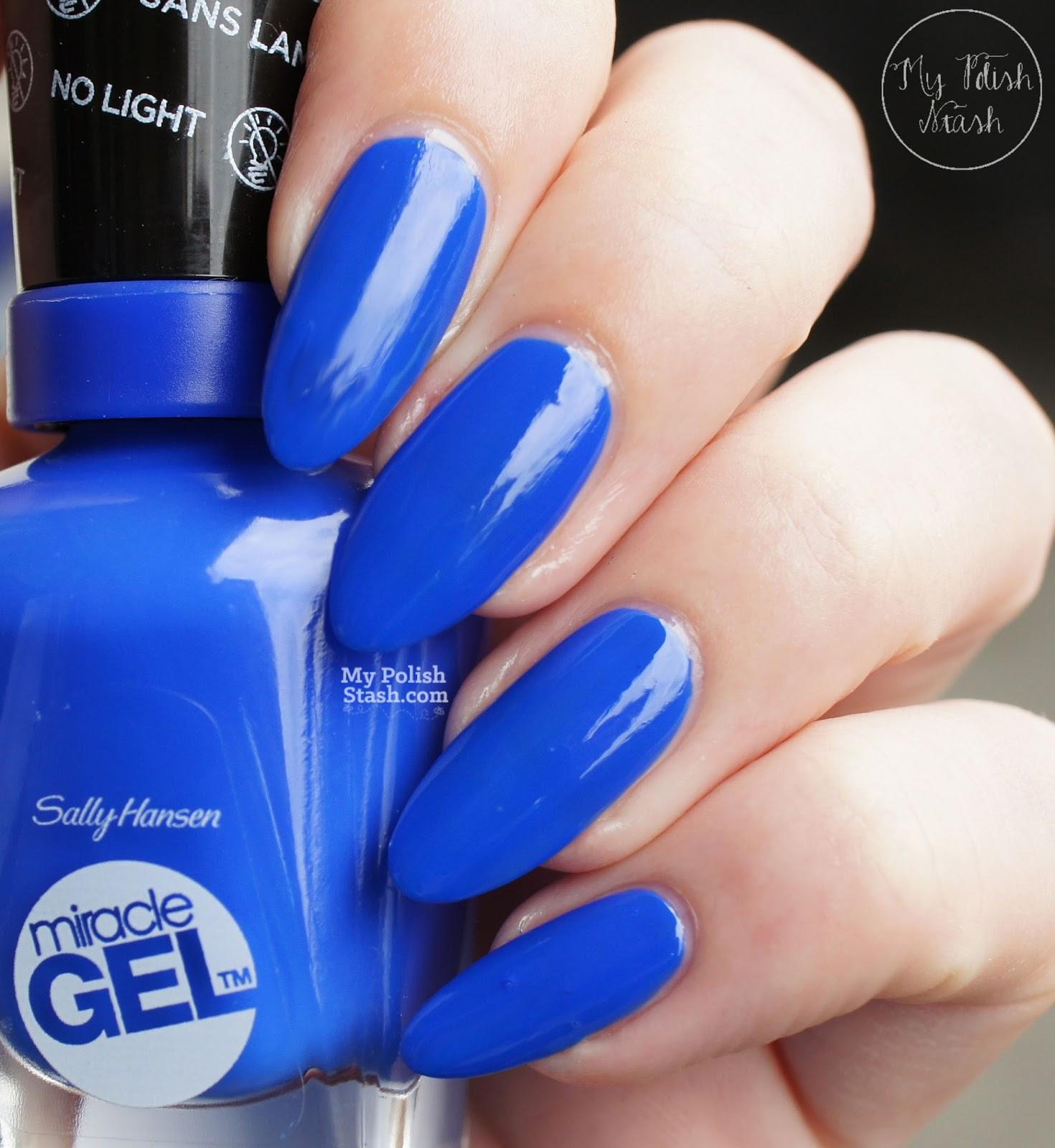 cobalt blue creme nail polish