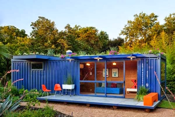 A Shipping Container Costs About $2,000. What These 15 People Did With That Is Beyond Epic - Blue container? Run with it!