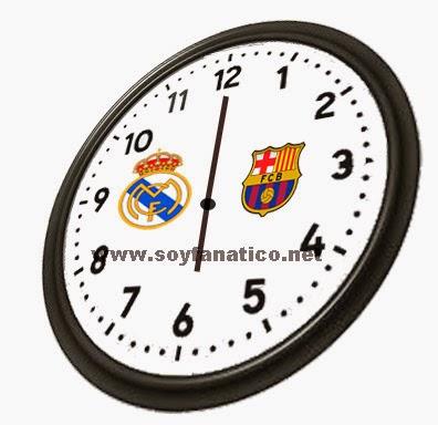 Hora del clásico Barcelona vs Real Madrid Octubre 2014