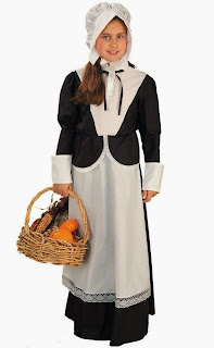 Pilgrim Girl Child Costume: