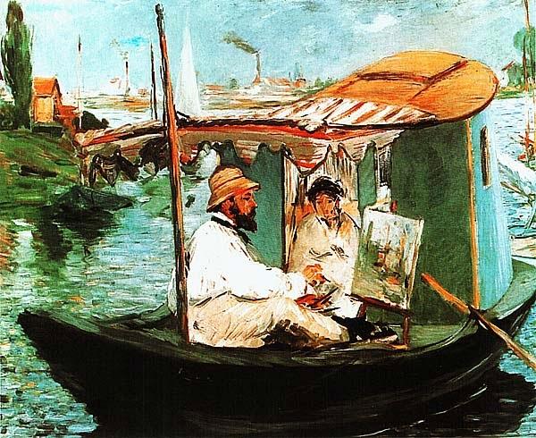 Эдуар Мане. Моне в лодке. 1874.