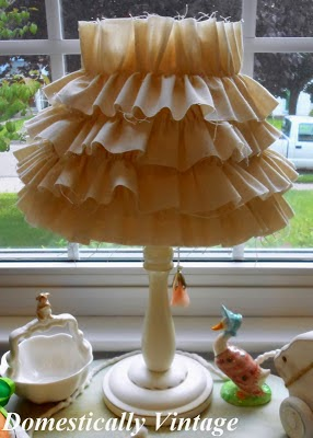Nursery Project #9 - Ruffled Lamp Shade