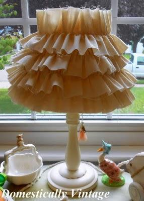 Nursery Project #9 - Ruffled Lamp Shade