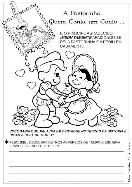 Caderno de Atividades Conto A Pastorinha para Imprimir Grátis
