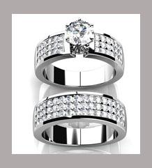 Anillo de compromiso grueso con diamantes