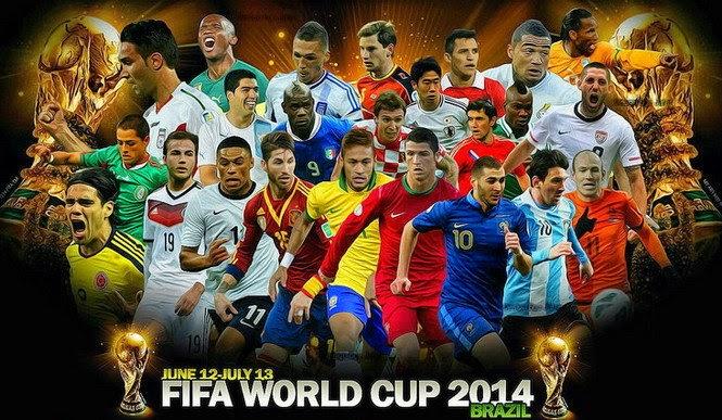 Jadual Piala Dunia 2014, FIFA World Cup 2014 di Brazil Waktu Malaysia