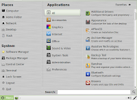 LinuxMint 13 main menu screenshot image