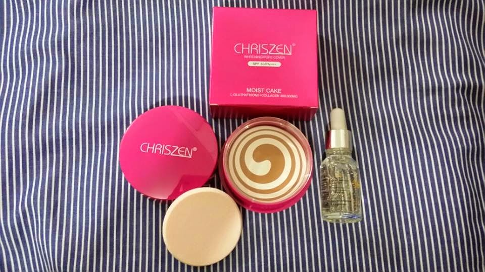 Chriszen Moist Cake 2 in 1 Foundation Murah RM48 Free Pos