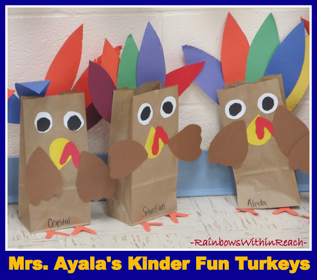 photo of: Turkey Craft Using Paper Bags from Mrs. Ayala's Kinder Fun via RainbowsWithinReach