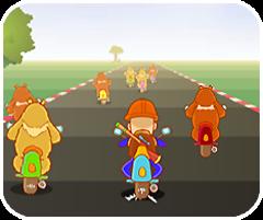 Game Đua xe với gấu, chơi game dua xe voi gau hay tại GameVui.biz