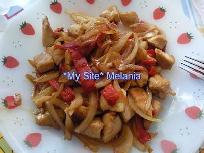 Pollo con cebolla y pimientos Pollo+con+verduras%252C+dukan