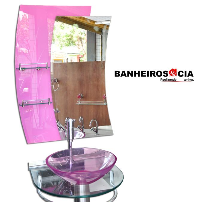 Banheiros e cia Espelhos -> Cuba Para Banheiro Rosa