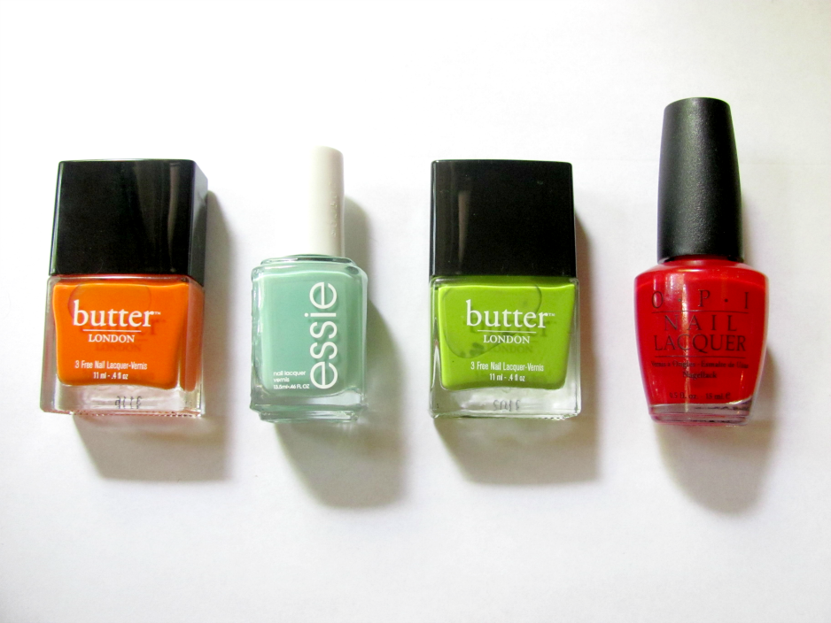 summer-nail-polish-picks-butter-london-silly-billy-jaded-jack-essie-turquoise-and-caicos-opi-big-apple-red