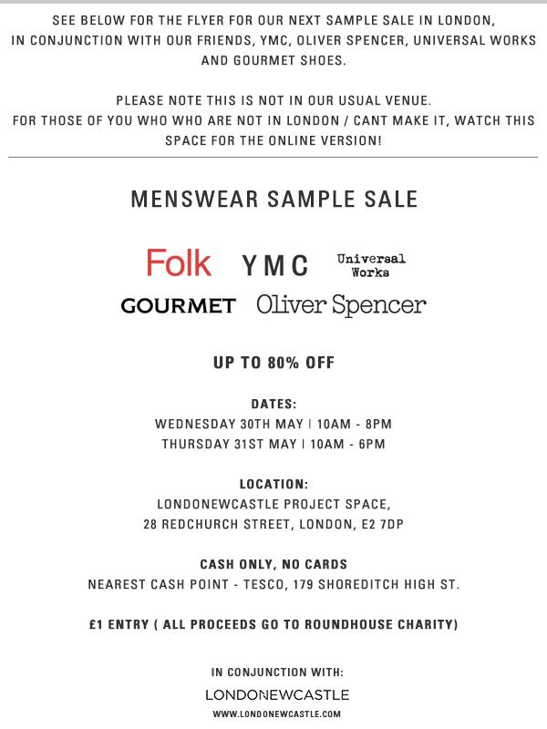 FOLK Sample Sale