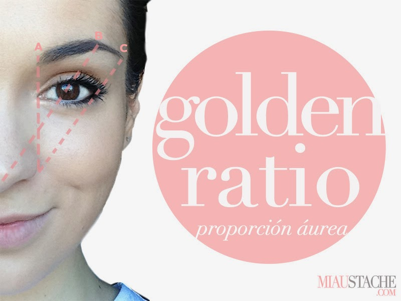 Diseño de cejas golden ratio