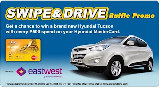 EastWest Credit Card Promo: Win a Hyundai Tucson, philippine promotion, promo, Promotion