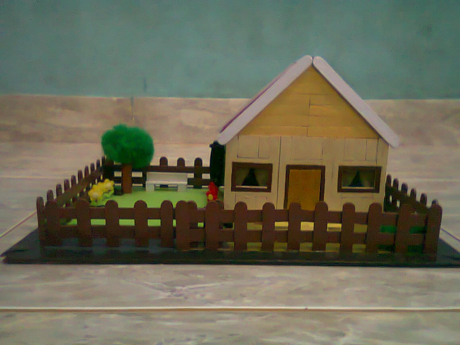 Cara Pembuatan Rumah Adat Dari Stik