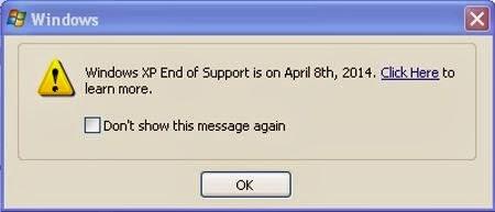 windows xp destek uyarısı