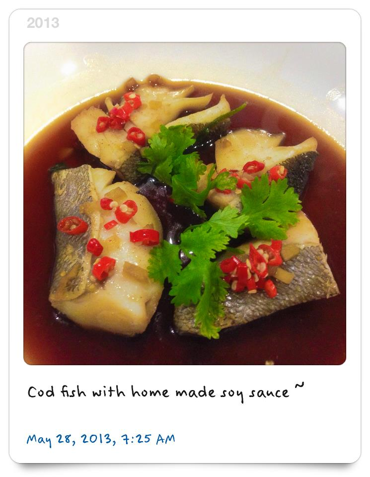 Cod fish with home made soy sauce chinese cooking style for Cod fish in chinese