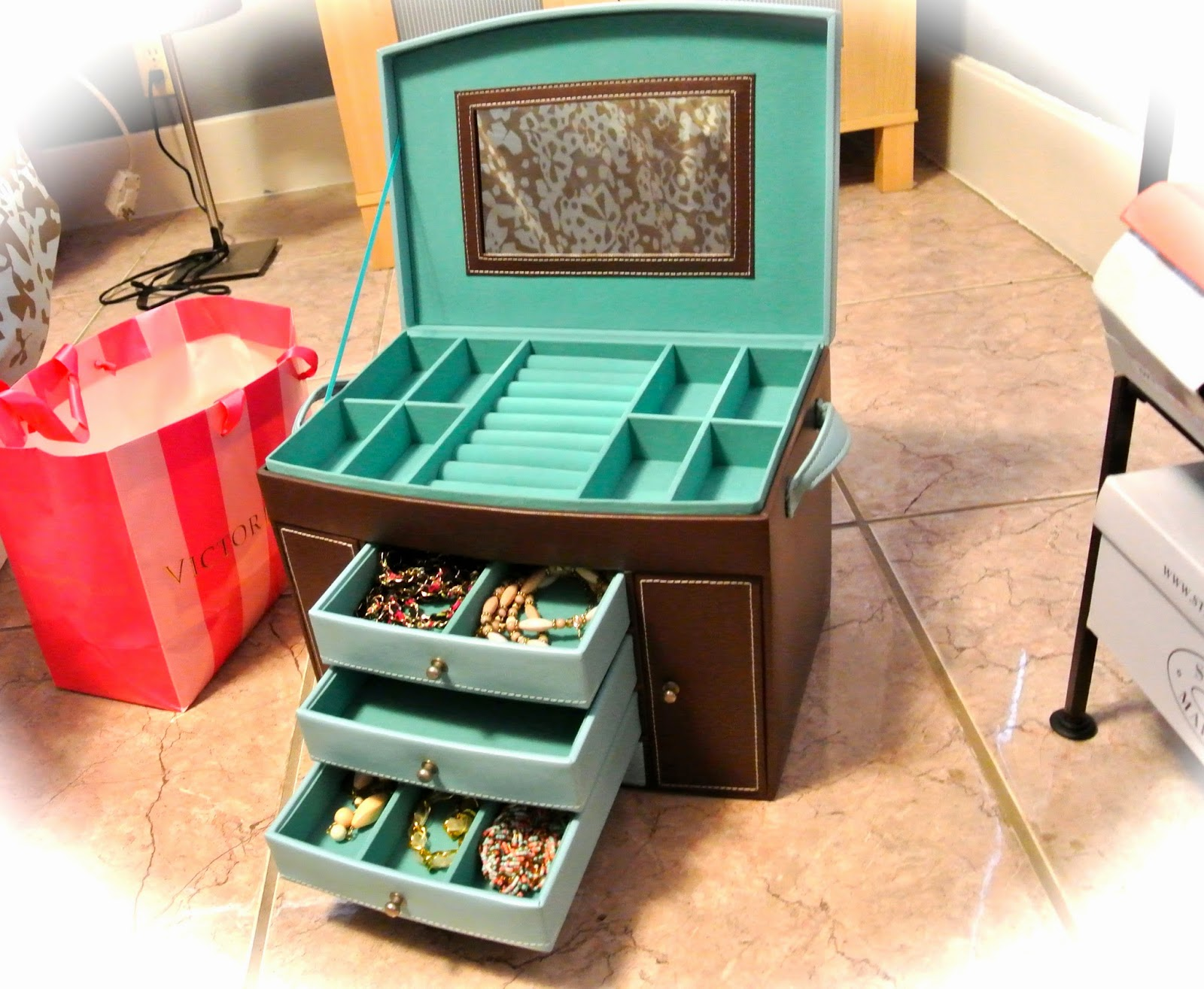 Marhsalls Cute Mint Blue Chocolate Jewelry Box TIFFANY XOXO