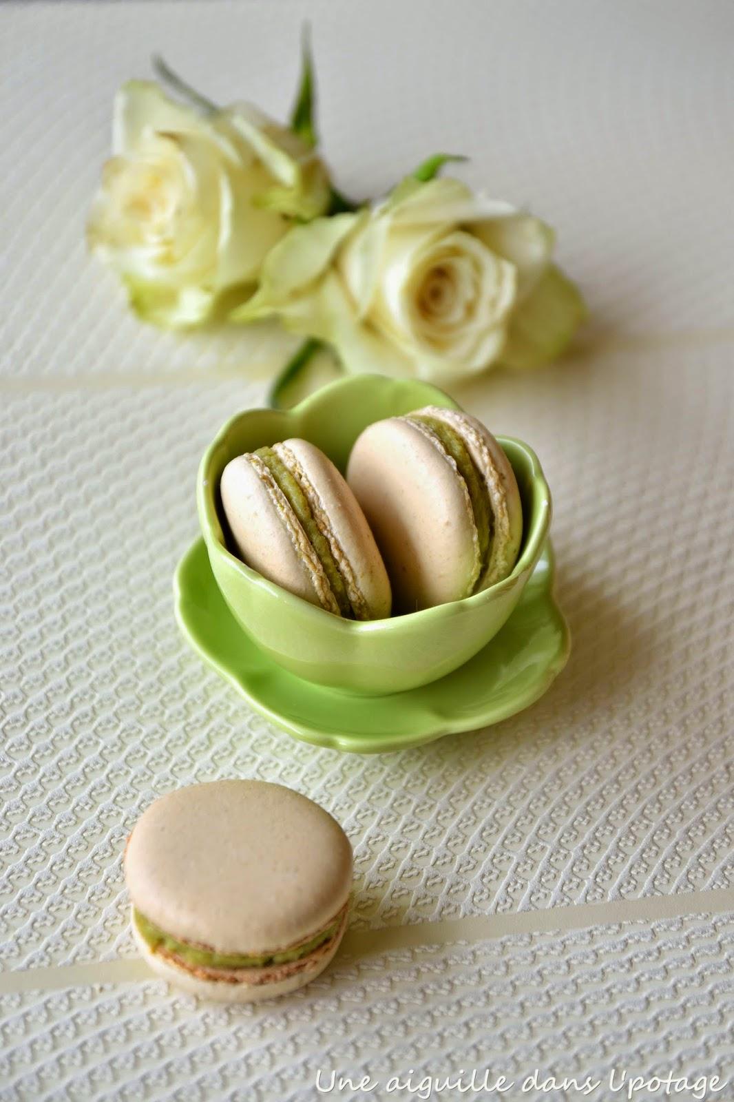 macaron vert ganache