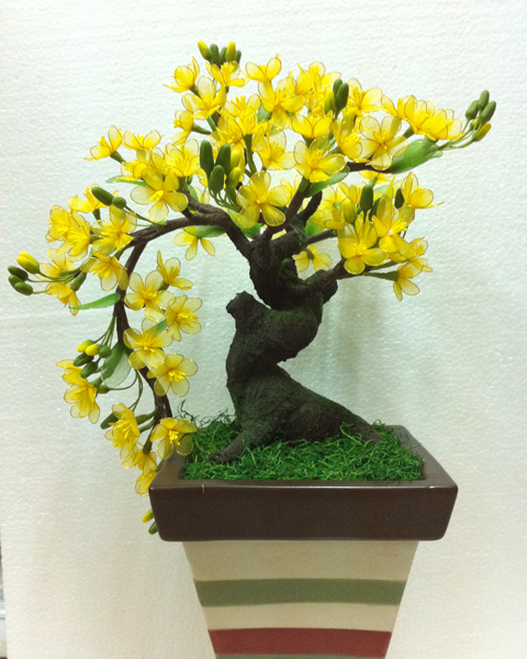 Kết quả hình ảnh cho hoa mai vải voan