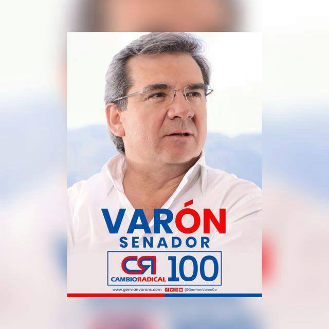 GERMAN VARON. SENADO CAMBIO RADICAL 100