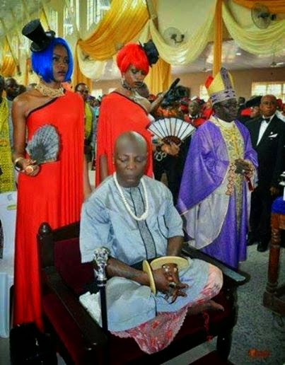 Photo of the Day! Charlyboy Pictured in Church During Father's Funeral Service
