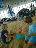 The indoor beach