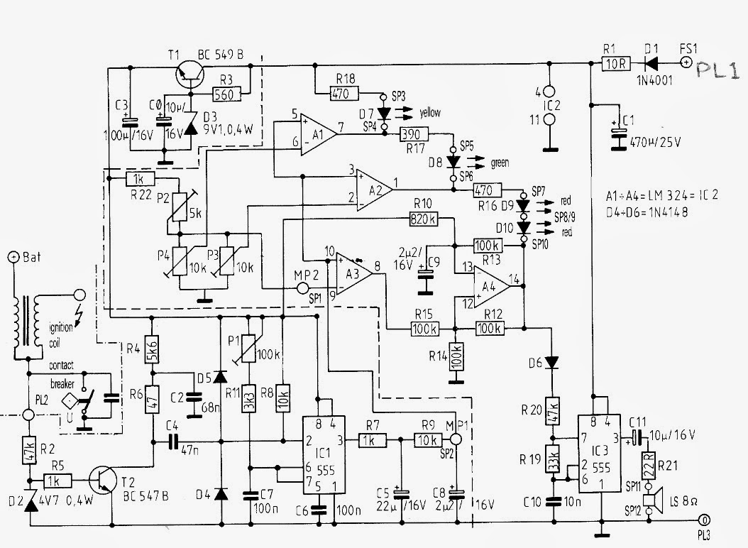 circuit diagram knowledge 2014 capacitor c2 should only be adapted to your vehicle if the engine four cylinder and four stroke has a maximum speed of much higher than 6000 rev min