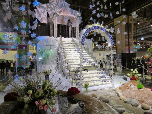 Philadelphia Flower Show 2015 movie display Frozen
