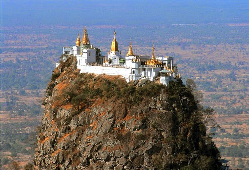 The monastery on the volcano