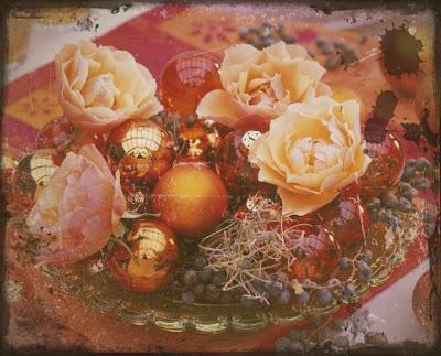 julkulor, julgrupp med julkulor