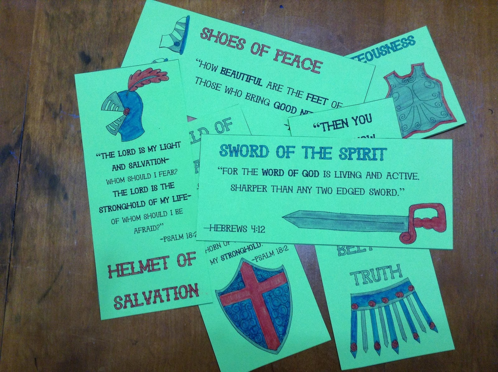 look to him and be radiant armor of god bookmarks