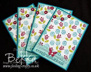 Bright Blossoms cards - visit www.bekka.stampinup.net & save 25% this stamp set until 28 October 2013