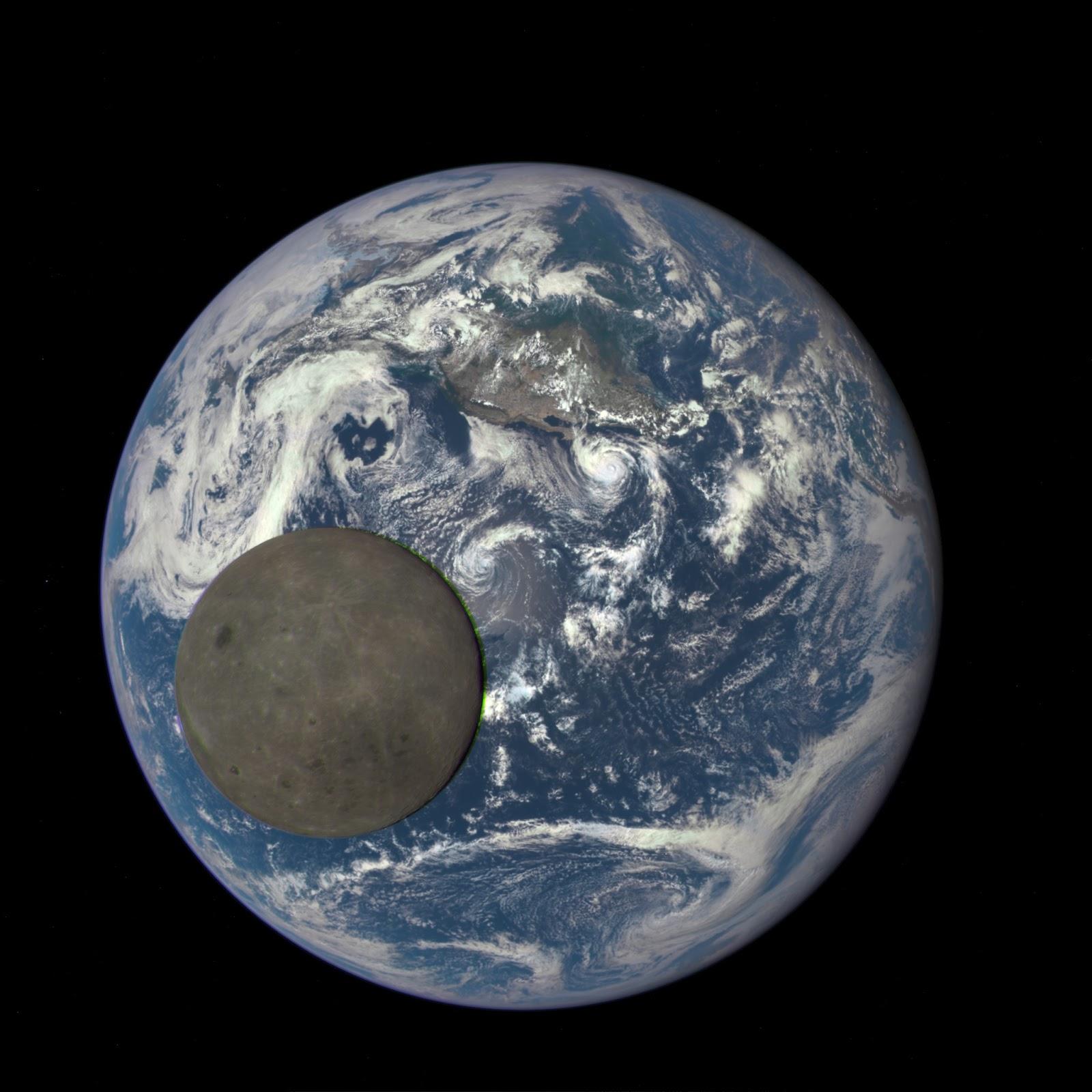 La Luna come non l'avete mai vista: fa photobombing alla Terra