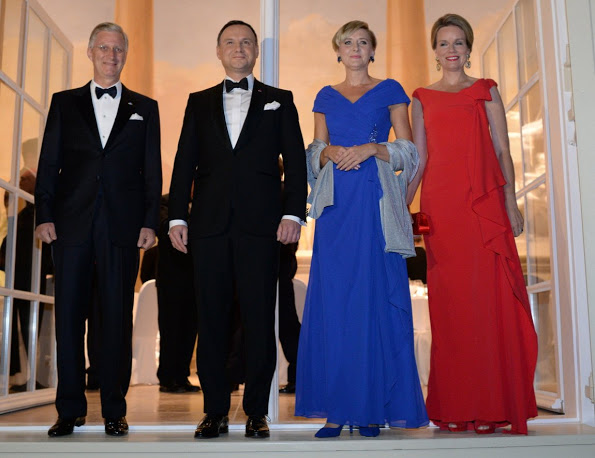 Queen Mathilde And King Philippe At A Reception Dinner During Their Visit To Poland