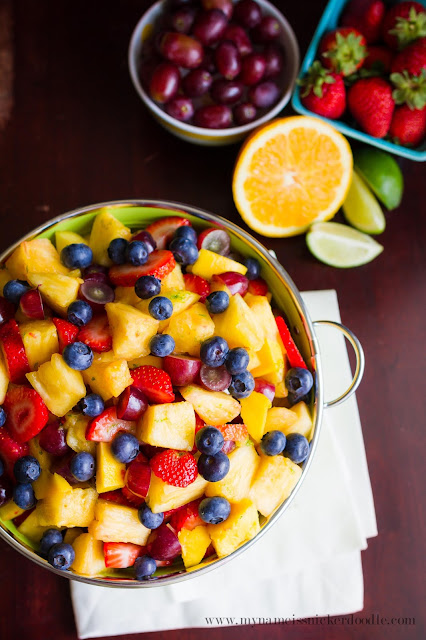 I'm going to amaze my friends and family with this gorgeous Summer Fruit Salad!  It've even got a secret dressing that puts it over the top!  |  mynameissnickerdoodle.com