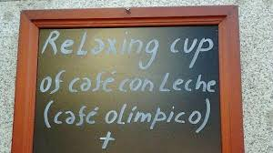 relaxing cup café con leche Plaza Mayor