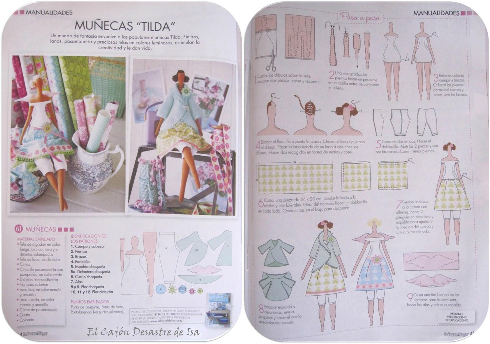 El Cajón Desastre de Isa: Miss Labores… de aguja: Muñecas TILDA (1ª ...