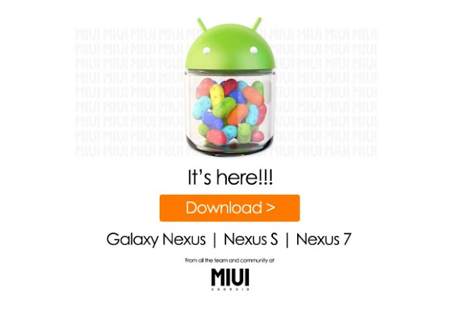 MIUI ROM Android 4.1 Jelly Bean para Nexus S, Nexus 7 e Galaxy Nexus