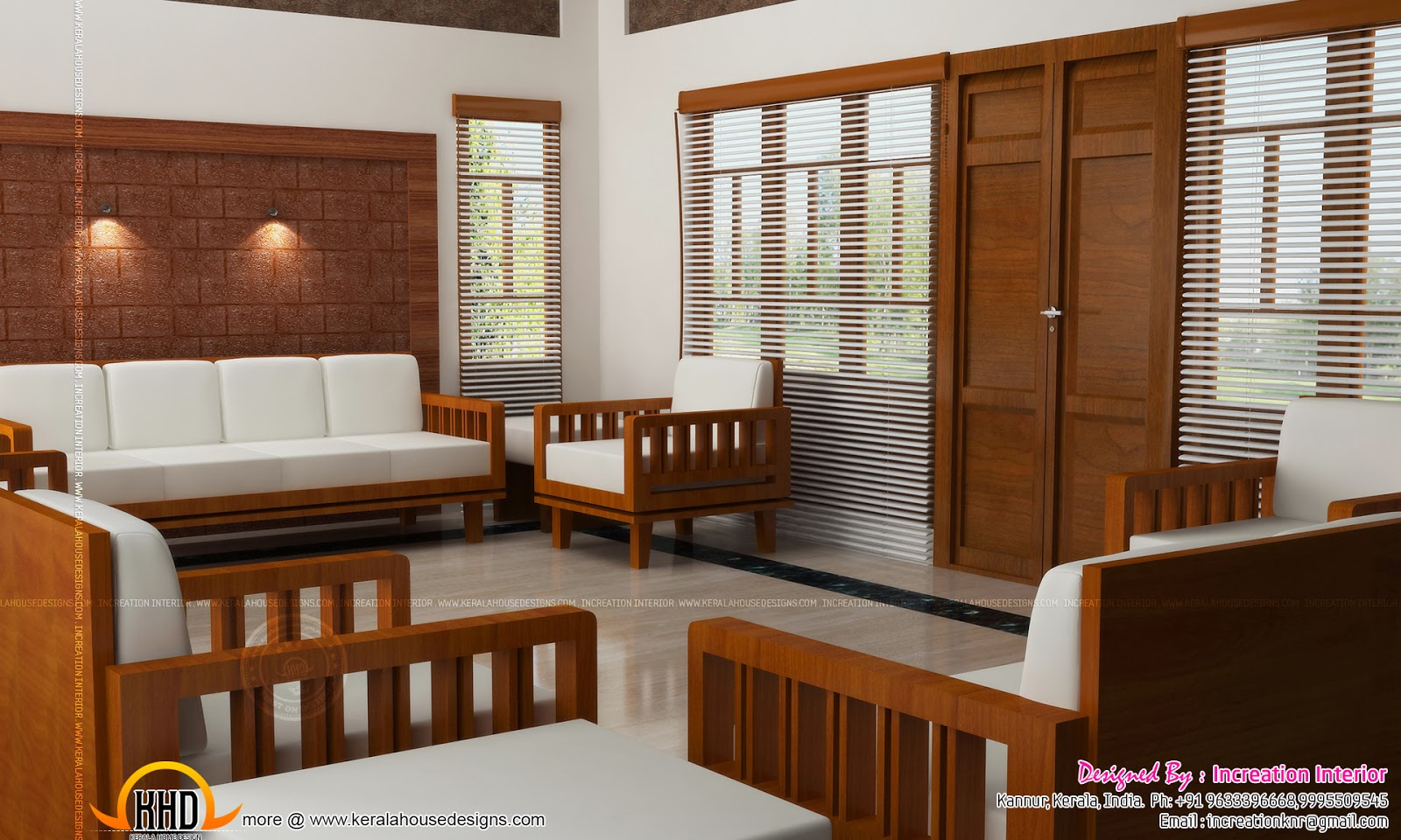 Beautiful home interiors kerala home design and floor plans for Living room designs kerala style