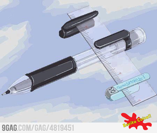 infancia, canetas, eeeita coisa
