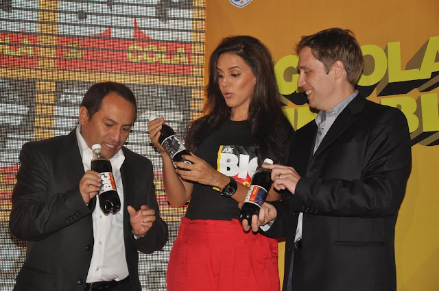 neha dhupia at the new logo launch of cola brand big cola. photo gallery