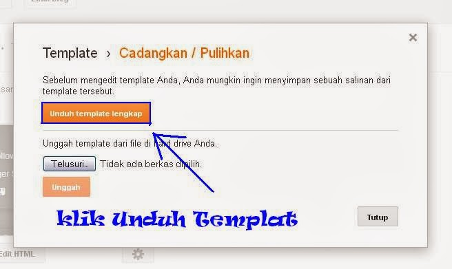 Cara Back Up Template Blogger Terbaru