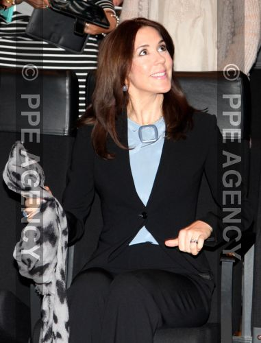 Princess Mary of Denmark attended the language conference, organized by the Mary Foundation, at the Black Diamond Copenhagen